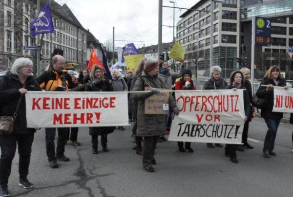 Protestaktion gegen das Urteil